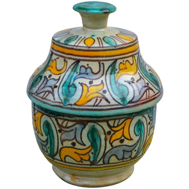 Antique Moorish Ceramic Box For Sale - Image 4 of 11