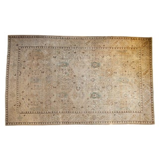 "Vintage Distressed Tabriz Carpet - 9'2"" X 14'9"" For Sale"