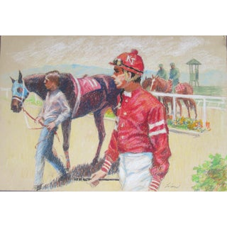 Monterey Peninsula, Horses, Polo Drawing For Sale