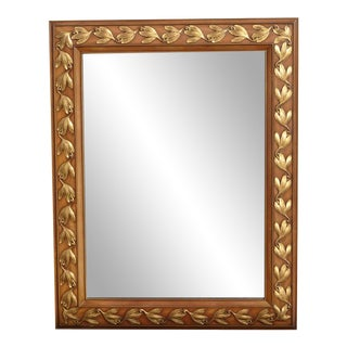 Vintage French Country Gold and Brown John Widdicomb Wall Mantle Mirror For Sale
