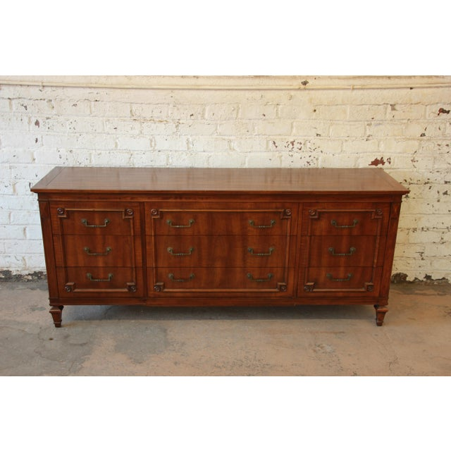 John Widdicomb Vintage Walnut 9-Drawer Dresser - Image 3 of 9