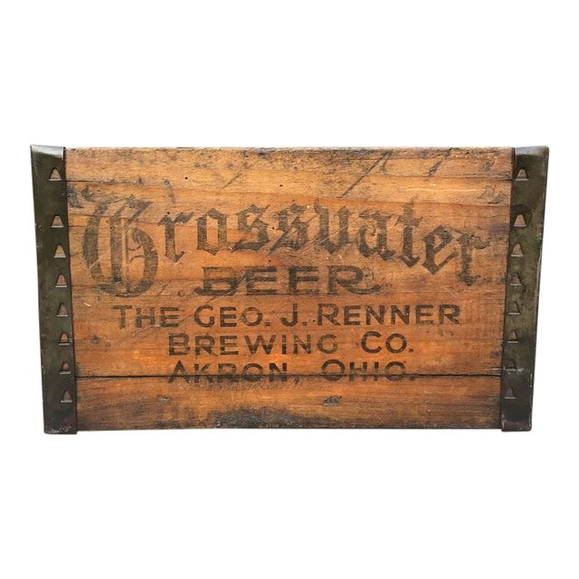 Grossvater Beer Crate - 1920s For Sale