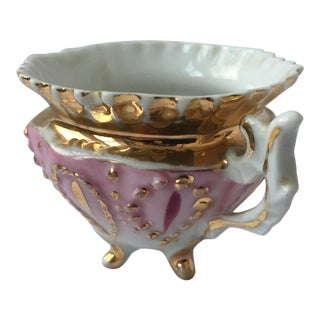 Gold & Pink Porcelain Cup