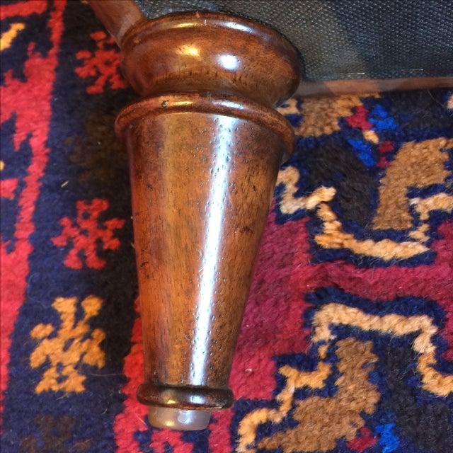 Lexington Brown Leather Ottoman - Image 6 of 8