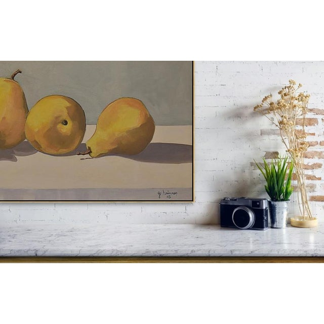 I used this image in three totally different compositions before the pears rotted. This is the only painting of the three...