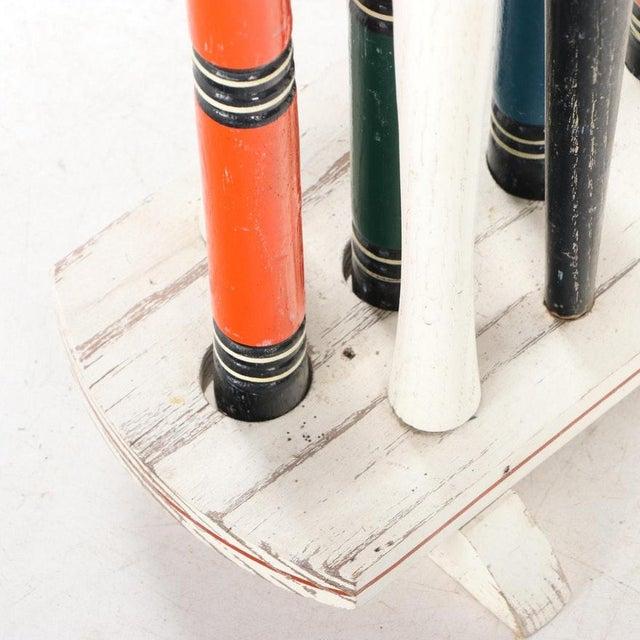 Vintage Painted Wood Croquet Set - 29 Piece For Sale - Image 12 of 13