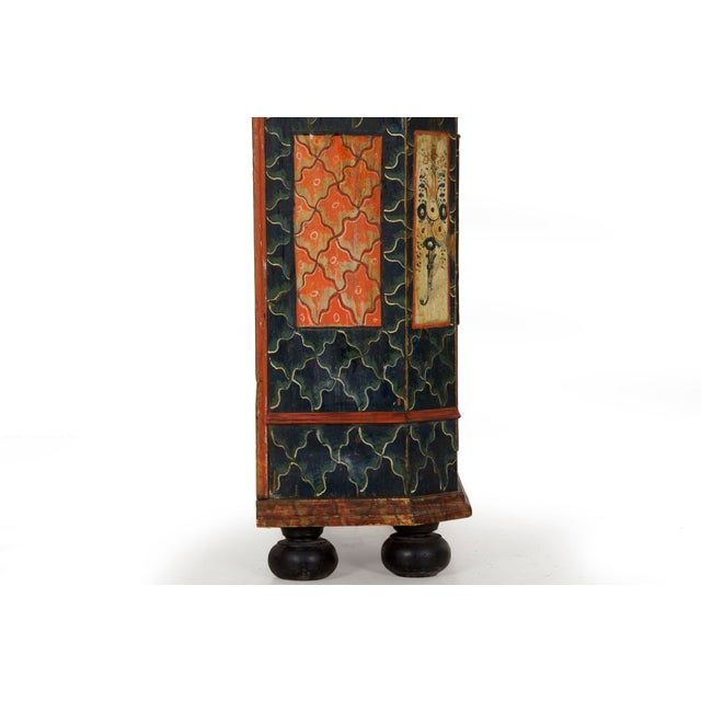 19th Century Antique Painted Armoire Cabinet Circa Late 19th Century For Sale - Image 10 of 13
