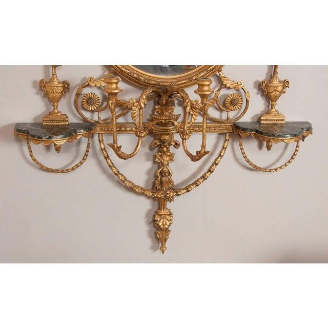 Gold George III Style Giltwood Girandole Mirror For Sale - Image 8 of 11