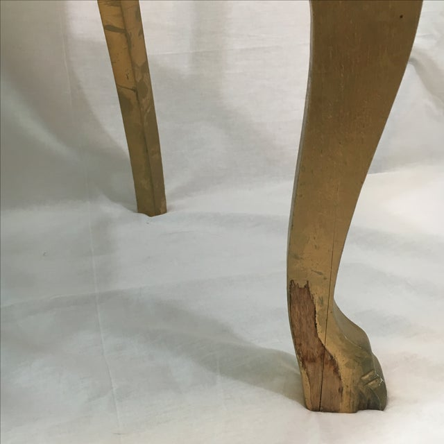 Gold Claw Foot Chair - Image 6 of 9