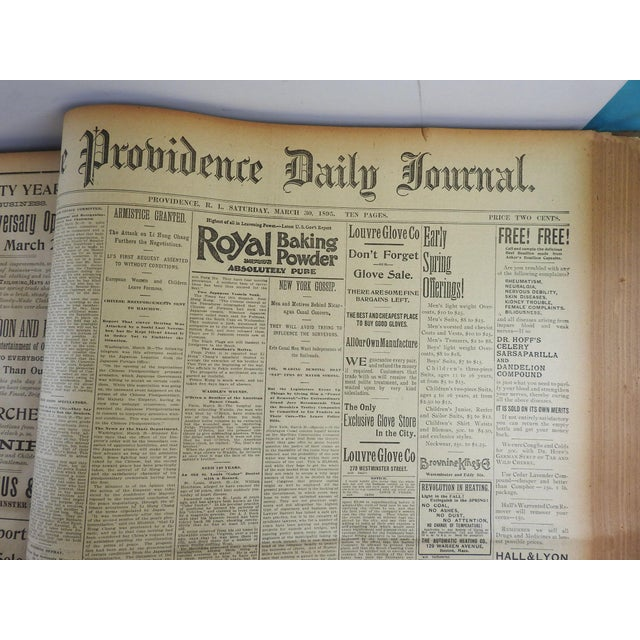 1895 Providence R.I. Bound Newspapers For Sale In San Antonio - Image 6 of 11