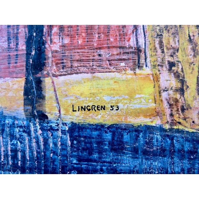 1950s Paul Arthur Lingren Gouache Painting, 1953 For Sale - Image 5 of 6
