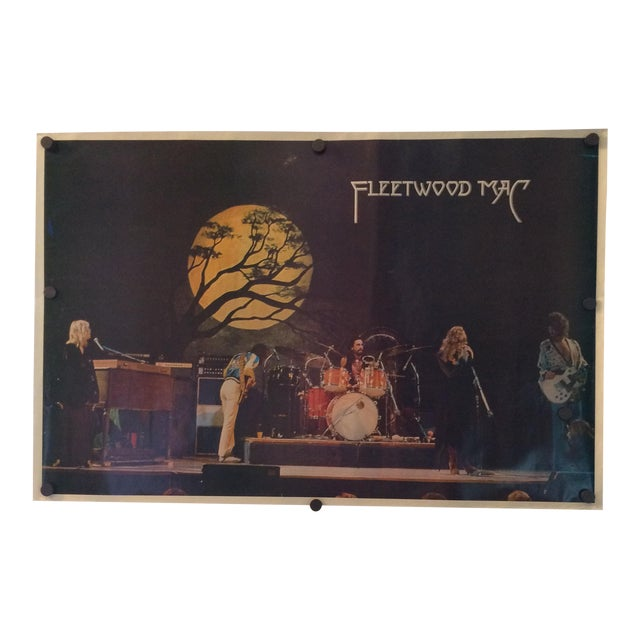 Vintage Fleetwood Mac Poster 1977 Germany Tour For Sale