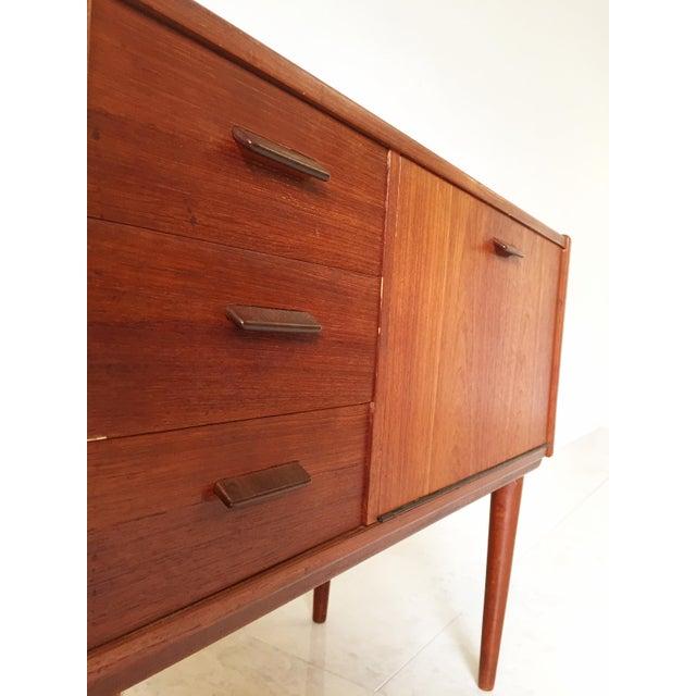 Vintage Danish Modern Teak Mini Chest Cabinet - Image 5 of 7