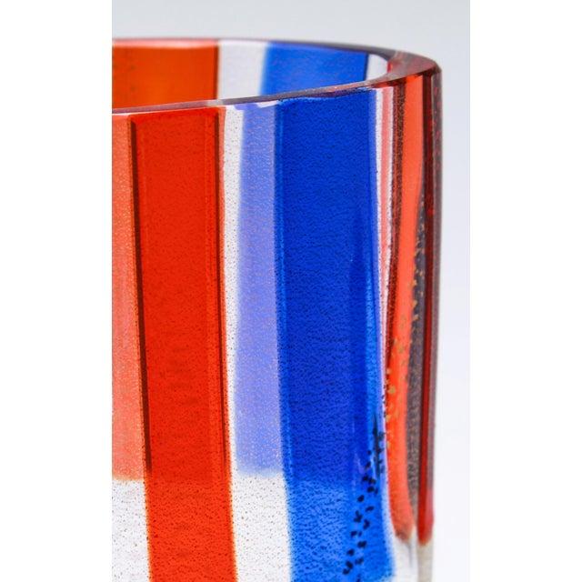 Mid 20th Century Carlo Moretti Murano Aventurine Glass Vase For Sale - Image 5 of 6