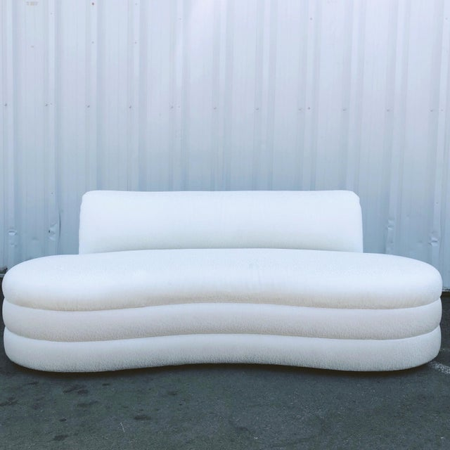 Curved Couches After Vladimir Kagan - a Pair For Sale - Image 10 of 13