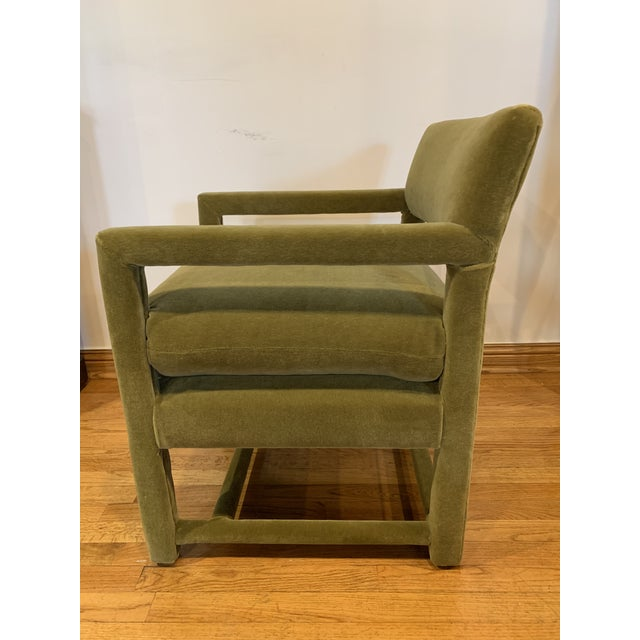 Late 20th Century Baughman Style Armchairs- A Pair For Sale In Chicago - Image 6 of 9