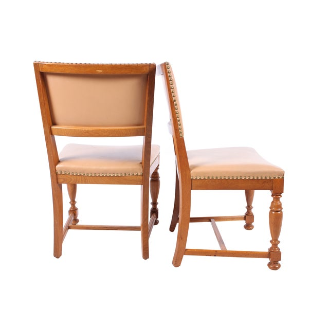 1940s Jacobean-Style Chairs - Set of 4 - Image 2 of 3