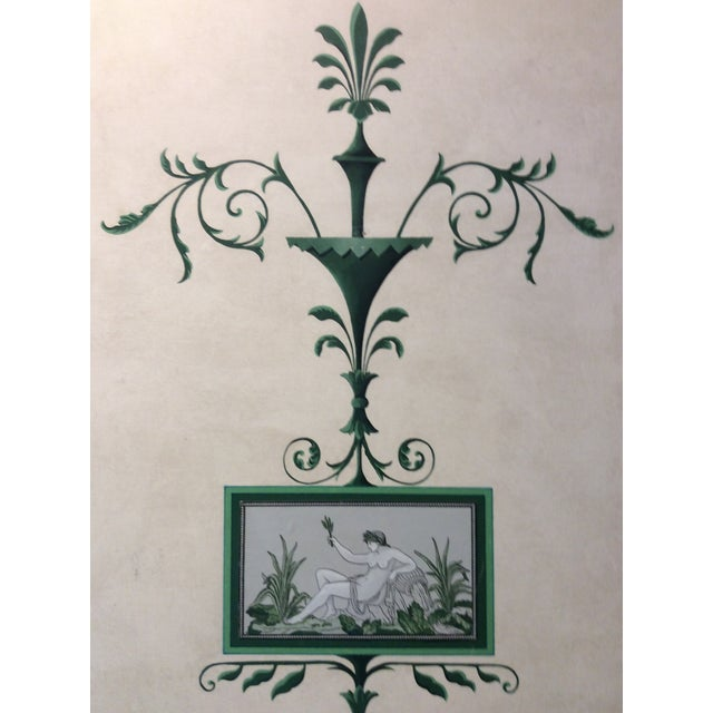 2000 - 2009 Hand-Painted and Decoupaged Garden Screens With Urn Motif - A Pair For Sale - Image 5 of 13