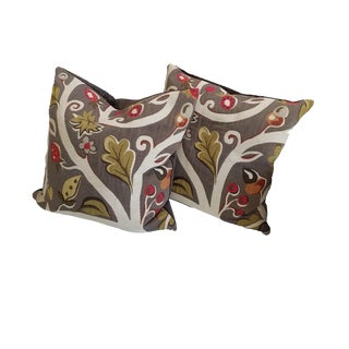 New Clarence House Modern Tapestry Pillows - a Pair For Sale