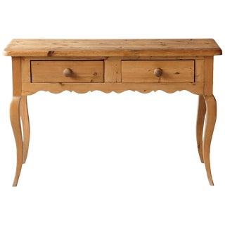 English Country Style Pine Console 2 of 2 For Sale