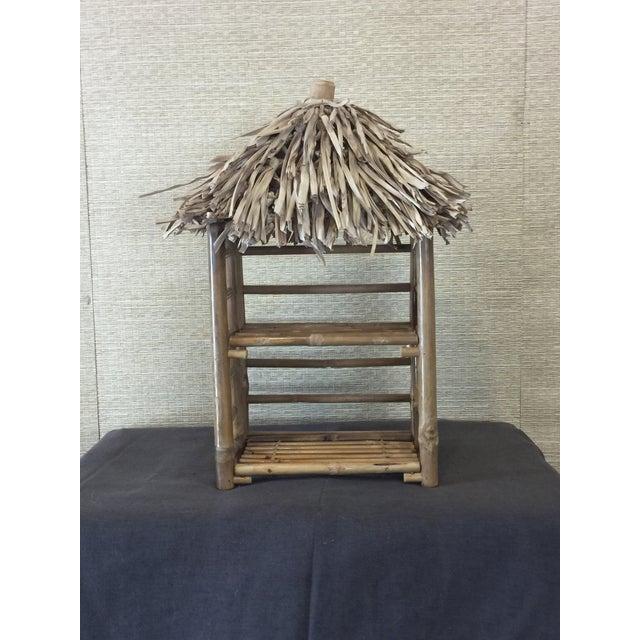 Bamboo Tiki Display Shelves - Image 2 of 9