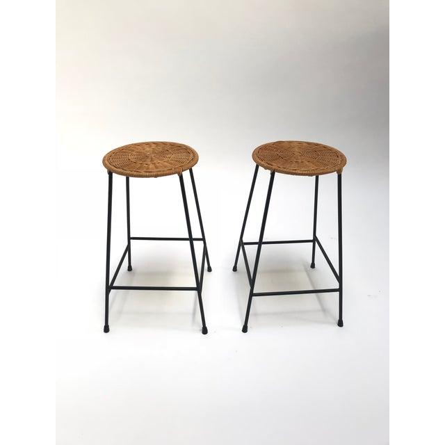 Vintage Arthur Umanoff metal frame counter stools - a Pair - Image 11 of 11