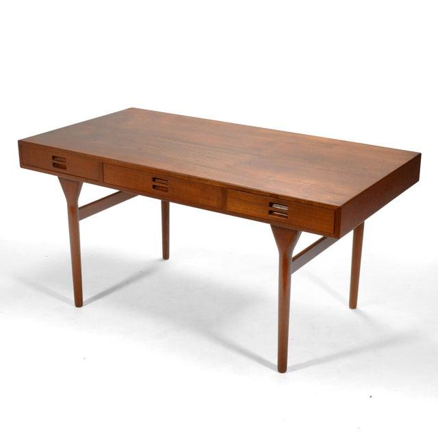 Soren Willadsen Mobelfabrik Nanna Ditzel & Jørgen Ditzel Three-Drawer Teak Desk For Sale - Image 4 of 10