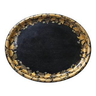 19th Century English Regency Paper Mache Serving Tray