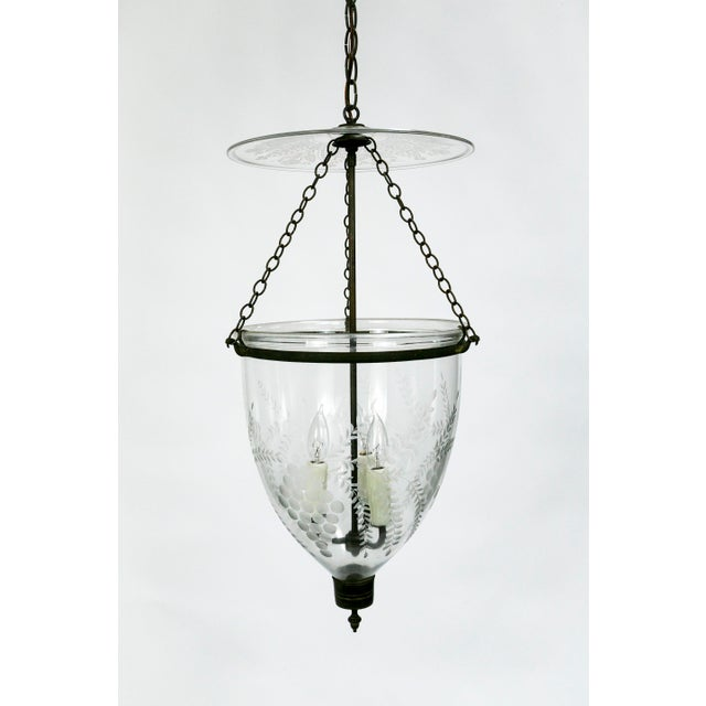 Transparent 19th Century Georgian Style Bell Jar With Etched Grapes For Sale - Image 8 of 8