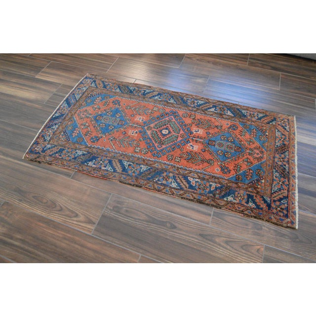 "Antique Persian Heriz Rug - 3' x 5'7"" - Image 5 of 11"