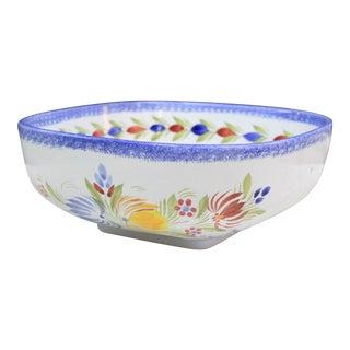 1960s Floral Pattern Quimper Bowl For Sale