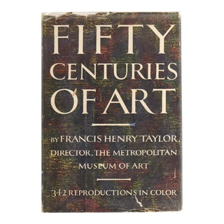 """1954 """"Fifty Centuries of Art"""" Coffee Table Book For Sale"""