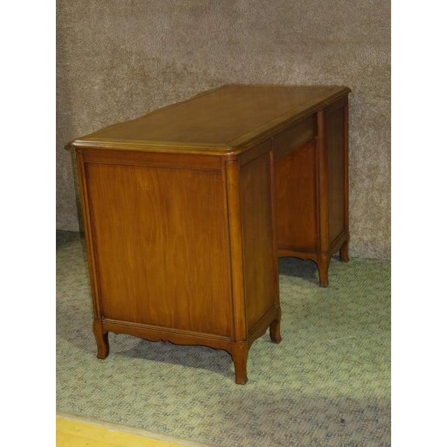 Wood 1970s French Provincial Sligh Partner Desk For Sale - Image 7 of 13