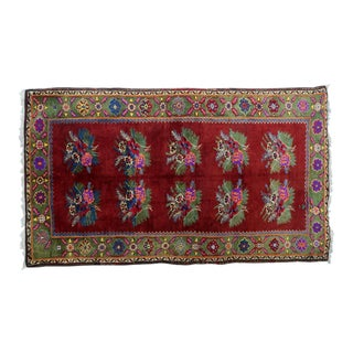 Mid 20th Century Turkish Kilim Rug- 4′10″ × 8′8″ For Sale