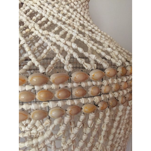 Beaded Shell Chandelier Lantern For Sale In Los Angeles - Image 6 of 7