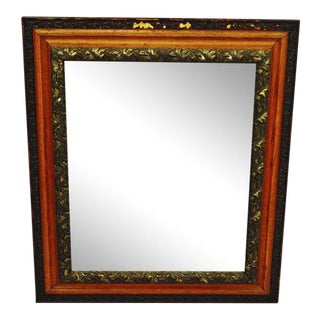 Decorative Wood Gesso Mirror For Sale