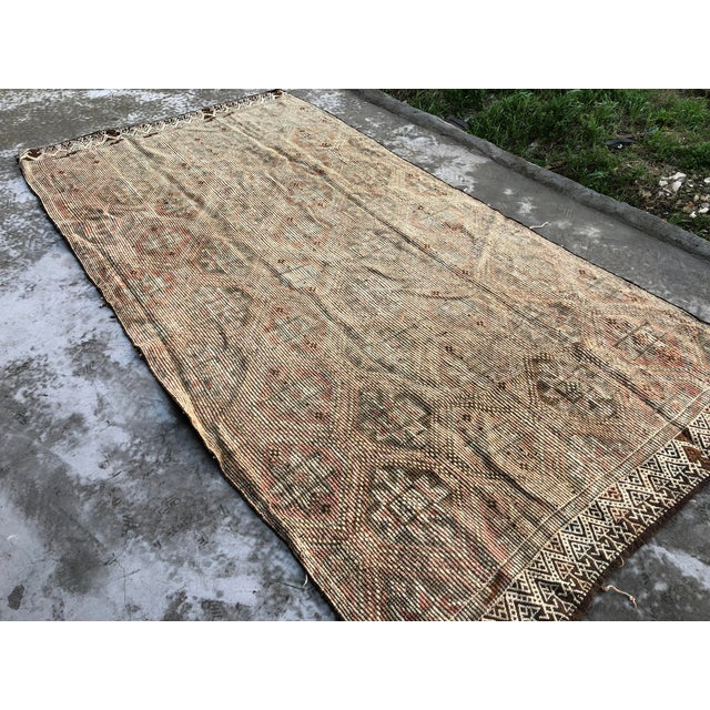 1960s 1960s Vintage Handwoven Kilim Rug - 5′8″ × 11′4″ For Sale - Image 5 of 9