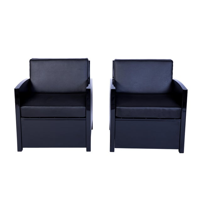 Art Deco Armchairs - a Pair For Sale - Image 4 of 4