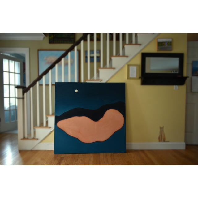 """Contemporary """"Night"""" Large Contemporary Abstract Painting by Stephen Remick For Sale - Image 3 of 10"""