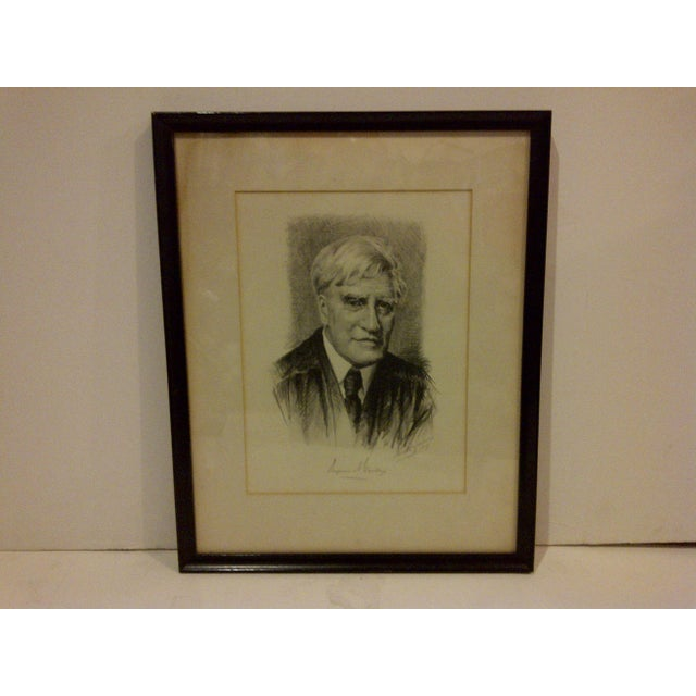 A vintage print, Supreme Court Justice by Benjamin N. Cardozo, circa 1929. The print is framed and matted with a glass...