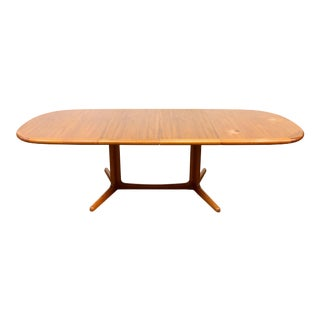 1960s Vintage E. Valentinsen Teak Danish Dining Table For Sale