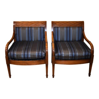1990s Ashley Manor Regency Style Accent Chairs- A Pair For Sale