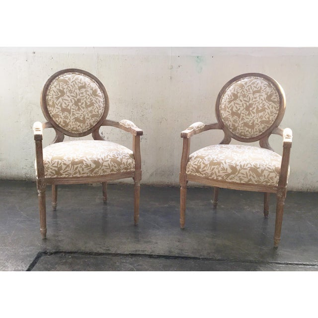 Wood Whimsical Otomi Print Chairs - a Pair For Sale - Image 7 of 7
