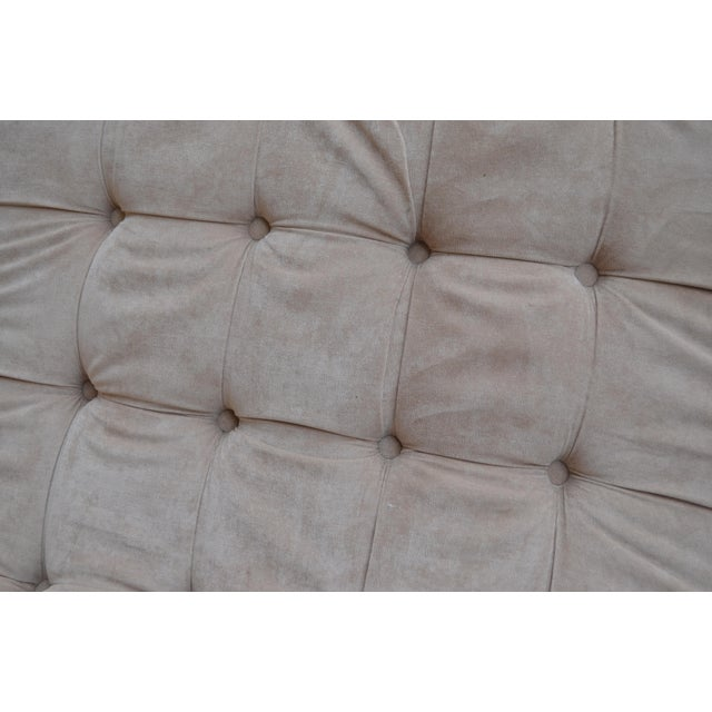 Contemporary Ivory Tufted Chaise Lounge Chair For Sale - Image 9 of 10