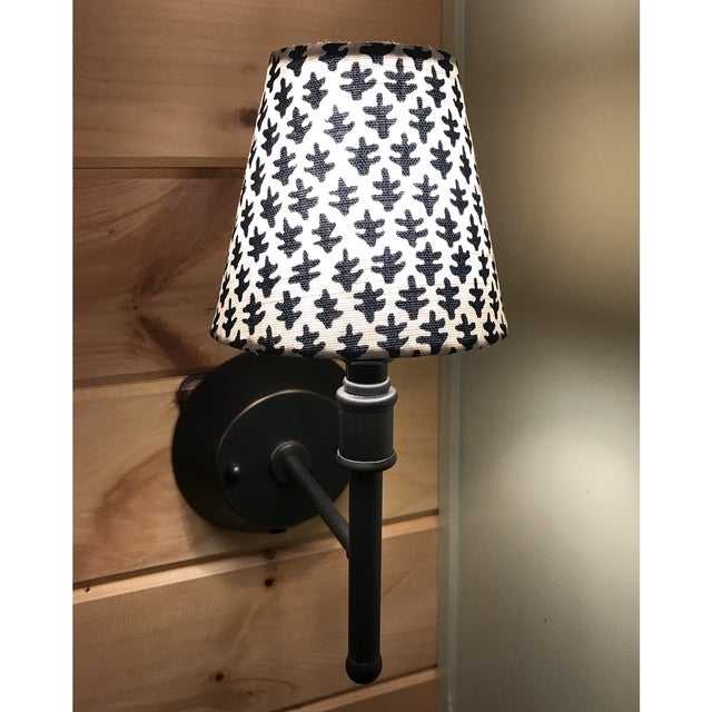 Boho Chic Indigo Blue Sconce or Chandelier Shade For Sale - Image 3 of 4