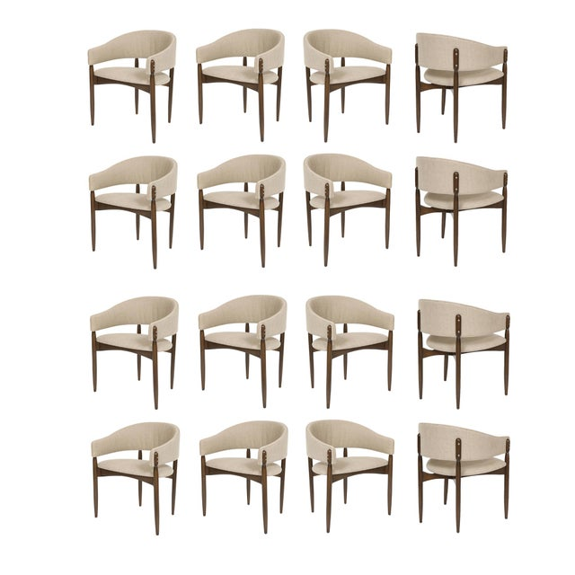Maple Set of 16 Enroth Dining Chairs For Sale - Image 7 of 7