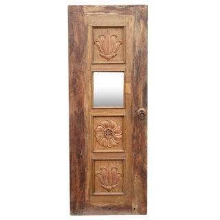 Lotus Teak Mirrored Door