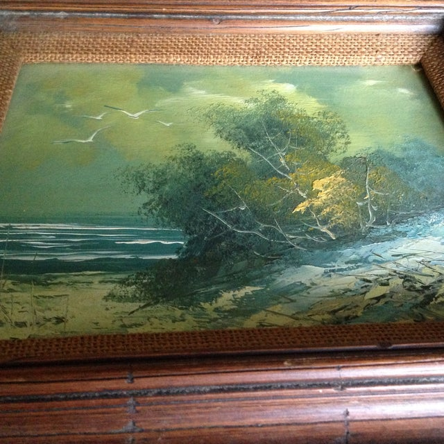 Vintage Oil on Board Seascape Painting - Image 10 of 11