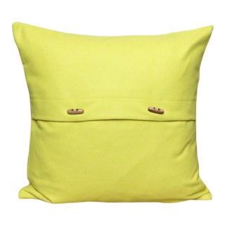 FirmaMenta Italian Eco-Friendly Yellow Wool Pillow For Sale