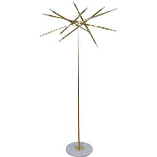 """Showroom Sample : """"Nest"""" Brass & Marble Floor Lamp by Blueprint Lighting, 2017 For Sale"""